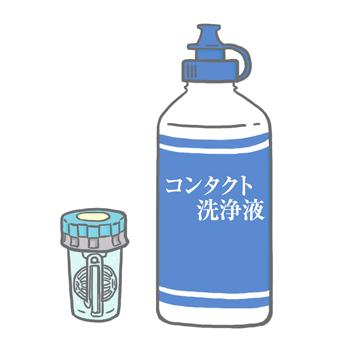 コンタクトレンズ洗浄液,種類,使い方