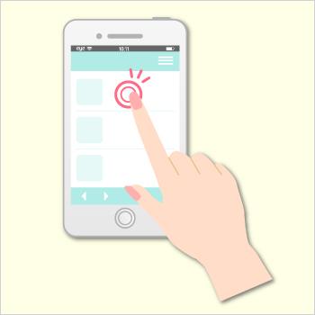 スマートフォン,画面凝視,コンタクトレンズ